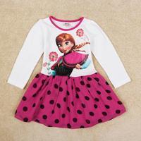 Frozen Dress For Baby Girl Nova New Arrival Princess Anna Frozen Party Dress Autumn Girls Lovely Tutu Dress