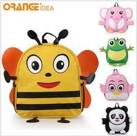 Kindergarten children's cartoon pupil bag   school bag free shopping