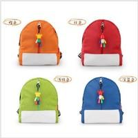 The violent Bear Pendant candy colors kindergarten children shoulder bag canvas bag new fashionable bag
