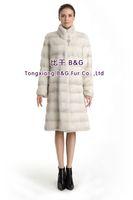 BG70763  2014 Genuine Winter Mink Fur Overcoat   Winter Ladies Long Clothes