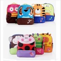 Korean version of the new children's cartoon animal nursery bag canvas bag  free shopping