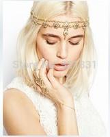 European and American trade of the original single pearl rhinestone elastic headband hairpin headdress