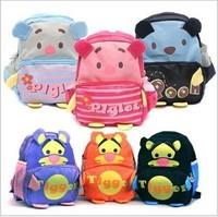 2014 Kindergarten children's cartoon pupil bag   school bags  free shopping