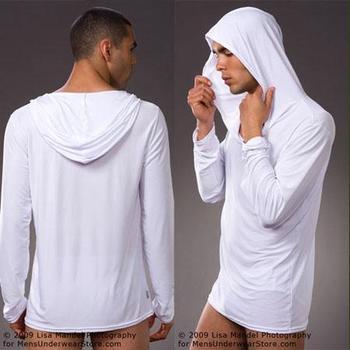 1 шт. мужские сон возглавляет полный рукав сексуальные мужские спать худи костюм ...