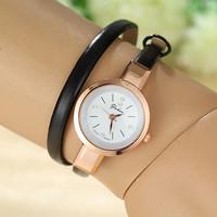 Charm Women Watches Golden Dial Analog Quartz Watch PU Leather Band Smart Clock Women Dress Watches AW-SB-1135