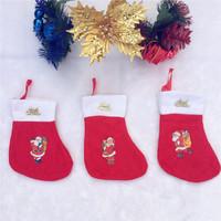 Nonwoven little Red Sox Christmas socks Christmas gift bag Santa sack Christmas decorations stockings