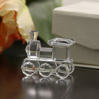 Free Shipping, 100pcs/lot, Cute small Crystal Train Favors for wedding, bridal shower, baby shower and promotional gift