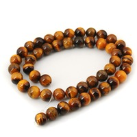Free Shipping!!! Natural Yellow Tiger Eye Round Beads Hole 1MM For Making Jewelry Diy Bracelet