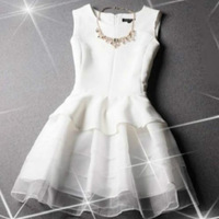 Hot Sale women summer dress 4 color New Hot summer dress cozy casual elegant Nibbuns organza embroidery lace dress