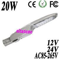 10PCS free shipping 12V 24V AC85-265V 20W  led street light IP65 130-140LM/W CE FCC ROHS LED  led street light 2 year warranty