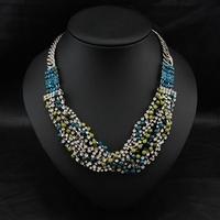 Wholesale Violetta Fashion New Chain Collars Jewelry Vintage Women Jewelry Exaggerate Pendants Choker Bib necklace