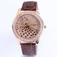 Hot Selling 2014 New Arrival Fashion Famous Brand Women Luxury Rhinestone Wristwatches Leopard Lady Clock Free Shipping Sr101