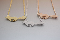 Fox Necklace, Running Pendant Available color as listed ( Gold, Silver )