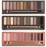 3pcs/lot Wholesale 2014 new NAKE Makeup set 12 Colors palette NK 1 2 3 eye shadow palettes with brush, free Drop ship