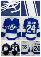 #24 Ryan Callahan Jersey Ice Hockey Tampa Bay Lightning Callahan Jersey Home Alternate Black Blue White Top Quality On Sale