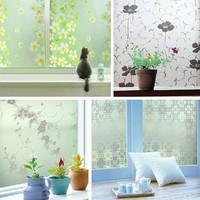 45*200cm PVC Stained Glass Window Film UV Block  Film  Privacy Decorative Glass Sticker