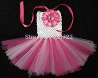 3pcs/lot new bright color flower girls tutu dress retail handmade DIY tulle dresses for baby girls kids free shipping