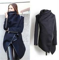 2014 Hot Sale Winter Woolen Women Overcoat  Europe Brand Women Fashion Overcoat  Women Popular Style O-Neck   Free Shipping  E51