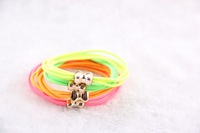 Korean  hair rope fluorescent colors bright candy-colored rubber band bow headdress