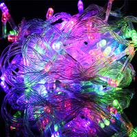 Christmas Tree Decoration Lamp 10M 100PCS LED Bubls Christmas LED Lighting Belt Night String Lights 8 Conversion Modes