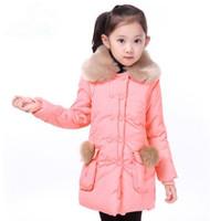 2014 new arrival fashion girls winter coat, girls winter jacket,thicken padded coat with hair children winter outwear WCJ-012