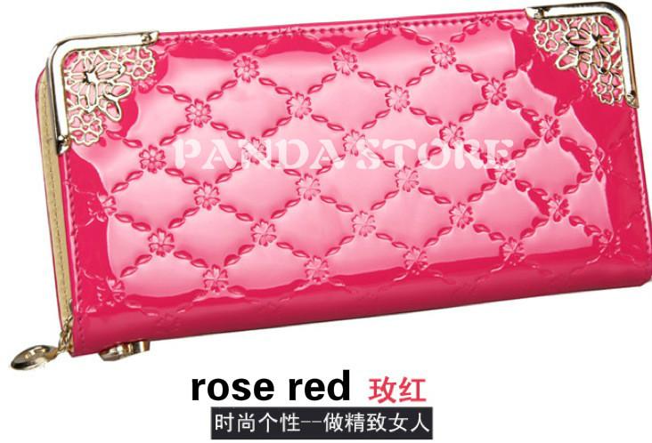 Гаджет  2014 New design Fashion PU leather Bag zipper wallet Female Zipper Coin purse Handbag Clutch Wallets Purses Free shipping qb-11 None Камера и Сумки