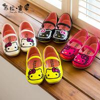 2014 new fashion children shoes hello kitty girls' dancing shoeskids' sneakers children shoes princess shoe girl shoes