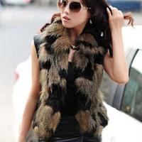 2014 New Arrival Women Faux Fur Vest Winter Long Vest Sleeveless Luxury Fur Coat Plus Size Slim Fur Vest