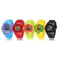 Fashion Kids Boy Girl Multifunction Wristwatch Colorful Electronic Watch  Free Shipping and Drop Shipping