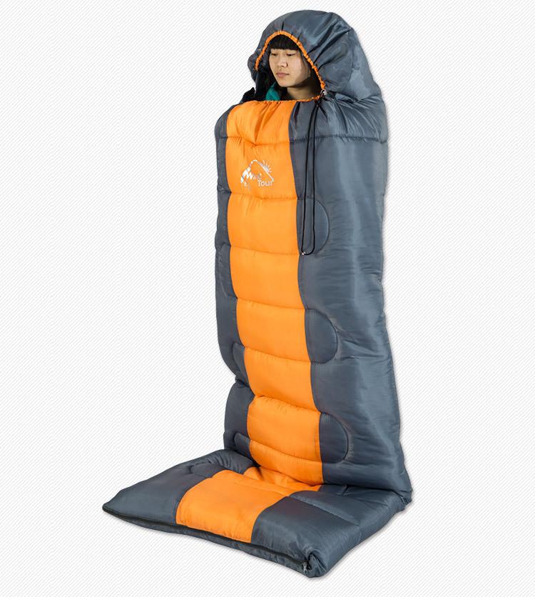 Windtour Thermal Sleeping Bag Autumn Tent Winter Envelope Hooded Outdoor Camping Adult Sleeping Bag Marmot Lippi Salewa(China (Mainland))