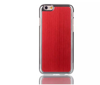 300pcs/lot Free Shipping New Metal Brushed Chrome back Case Cover For iPhone 6 Air 4.7 inch