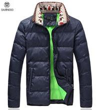 Stand National Style Winter Coat Men Big Size M 5XL Large Men s Parkas Black Navy