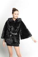 BG70822  2014 Genuine Winter Mink Fur Overcoat   Winter Ladies Long Clothes