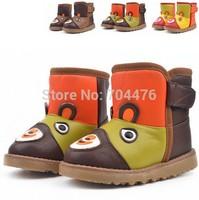 Children shoes 2014 winter kids snow boots waterproof warm children Cotton Boots non-slip boys girls leather boots