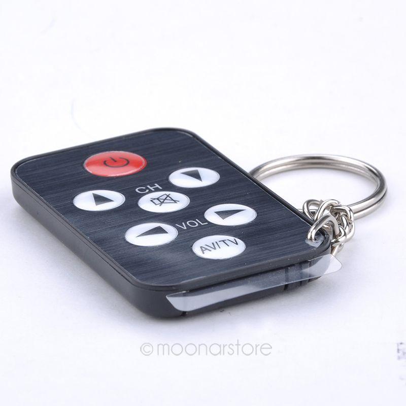 1Pcs Key Ring Mini Universal Infrared IR TV Set Remote Control Keychain Key Ring 55J*DA1061#M5(China (Mainland))