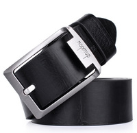 Men Belts 2014 genuine leather business high quality buckle New Fashion top Wholesale 2 color  Free shipping