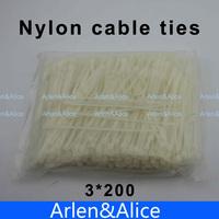 500pcs 3mm*200mm Nylon cable ties