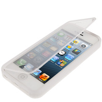 Transparent Flip Mobile Phone TPU Case Cover Shell for iPhone 5 & 5S