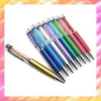 20pcs/lot 32g Original Factory Colorful Metal fashion lady pen friend birthday gift roller ballpoint pen signature Crystal pen
