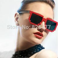 2014 on sales Super Mario mosaic sun glasses for women men unisex general vintage sunglasses anti uva pixel glasses