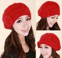 Rabbit cap Sweet 2014 women Fashion Hat winter warm hats and lovely ladies fall winter hats beret rabbit fur hat new