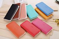 Free Shipping female coin purse single zipper clutch bag wallet ladies' wallet fashion women's wallets purses ladies' Handbags