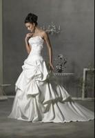 Tube top train fashionable 2014 slim wedding dress Sexy fashion cheap wedding dresses free custom logo vestido de noiva