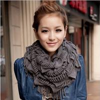 Fashion Ladies Scarves 2014 Women Winter Knitting Wool Collar Scarves women's ring scarves free ship cachecol feminino