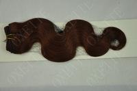 "Discount!!Oxette 5A Virgin Malaysian hair extension Body Wave 12""-30"" #33 Dark Auburn 3 bundles/lot"