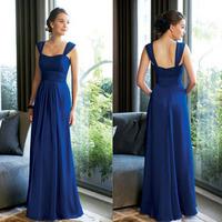 Bag evening dress blue long design evening dress plus size sisters skirt bride dress long design free shipping