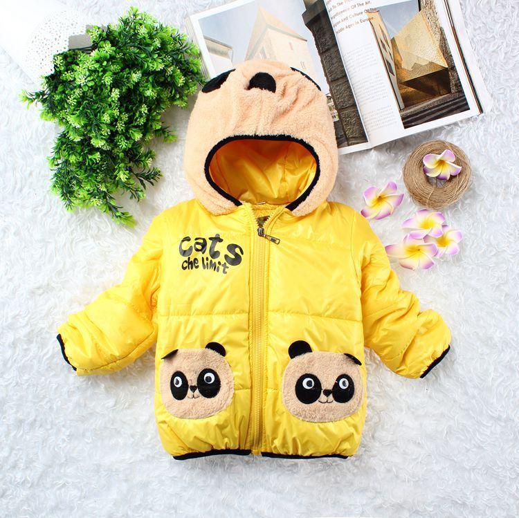 Hot modelos de inverno para crianças bebê Berber Fleece meninos casaco meninas jaqueta de algodão acolchoado crianças Panda Outwear Roupa Infantil(China (Mainland))