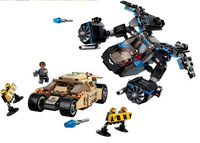 98044 368pcs/set Marvel DC Avenger Batman VS Bane Tumbler building block sets Super Heroes minifigure toys with original box