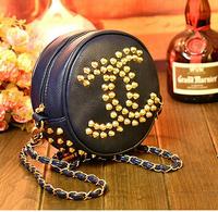 Personalized new fashion small five-pointed star rivet  bag  vintage mini bag chain shoulder bag messenger handbag