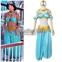 Free Shipping New Arrival Beautiful Jasmine costume Aladdin Jasmine Princess Costume